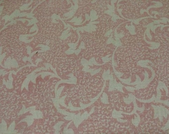 Pink Vintage Cotton Fabric / Two Toned Pink Cotton Fabric