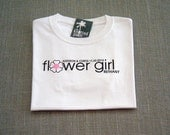Flower Girl Pink Center Flower Personalized Wedding T-Shirt