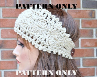 Pattern #1, PDF, Instant Download, Crochet headband pattern - Diagram Included!