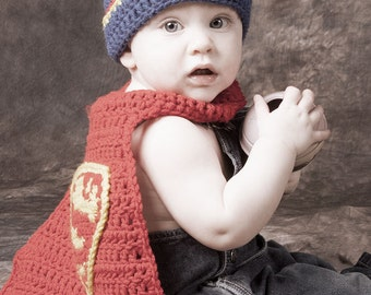 SUPERMAN cape only (6 to 12 Months crochet pattern)