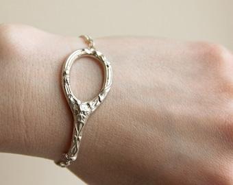 Floral Scissors Handle Bracelet