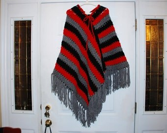 Poncho, hand crocheted fits most