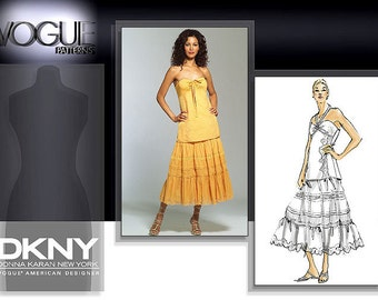 Vogue 2901 Pattern Donna Karan Halter Top and Lace Skirt Size 12,14,16 Out of Print