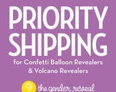 Priority Shipping for Confetti Balloon Revealers
