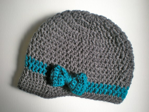PATTERN:  Wiseguy Hat- Easy Crochet, All Sizes Newborn to Adult, newsboy, visor button, bow, beanie, InStAnT DoWnLoAd, permission to sell
