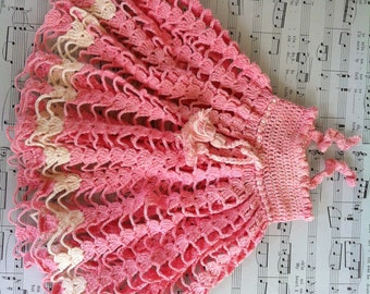 Crocheted Doll Dress with Beret