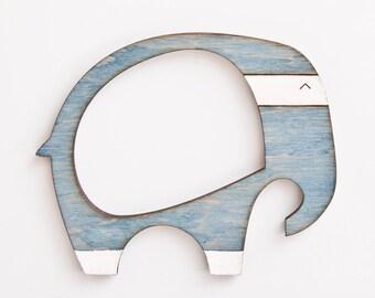 blue picture frame wooden elephant photo frame fridge magnets blue elephant frame cute housewarming gifts blue - Elephant Picture Frame