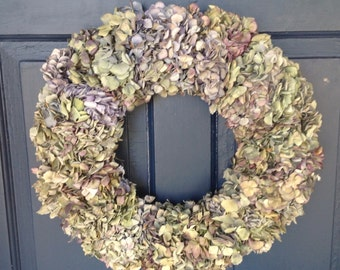 Old Fashioned Natural Dried Hydrangea Wreath