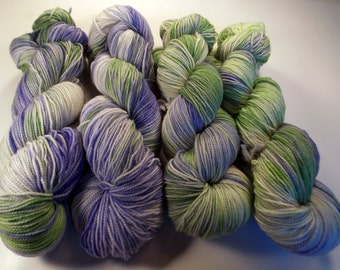 Herb on Max 80/20 SW Merino Nylon Hand dyed fingering weight sock yarn