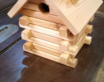 Cedar Log Birdhouse