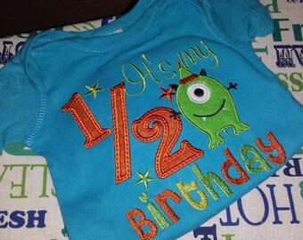 1/2 Birthday Monster Shirt