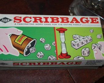 Vintage Scribbage Game From 1963 Complete Board Game