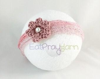 Antique Rose Newborn Photo-Prop Headband