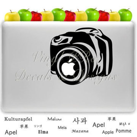 Photography Digital Camera Lens SLR Aperture Photo Decal for Macbook