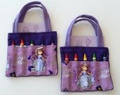 Sophia Children's Crayon Bag and Customized Paper, Birthday Party Favor