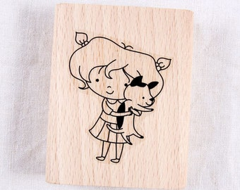 I love a Dog Rubber Stamp