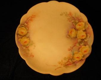 Yellow Rose Display Plate