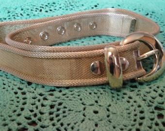Vintage Ladies Gold Mesh Belt