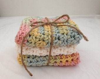 Crochet Towel Washcloth Washrag Makeup Cloth Cotton Towel