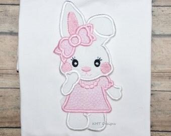 Cute Girl Bunny Shirt, Easter Rabbit Shirt, Easter Shirt, Easter Photo Prop, Easter Bunny Shirt, Cute Bunny Shirt, Girl Bunny Shirt
