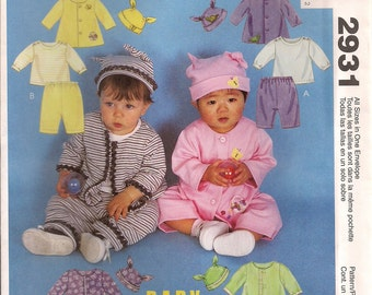 McCall's Sewing Pattern 2931 - Infants' Jacket, Top, Pull-on Pants, and Hat