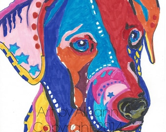 Pop Art   - Art Print  - Beagle Catahoula