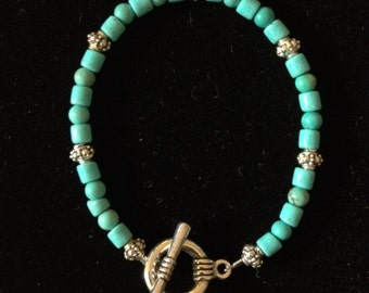 Turquoise with Silver Accents Bracelet