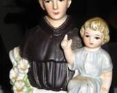 Vintage Lefton Saint Anthony Planter .......Saint Anthony Finds Lost Objects.....Never Fails....Signed Lefton