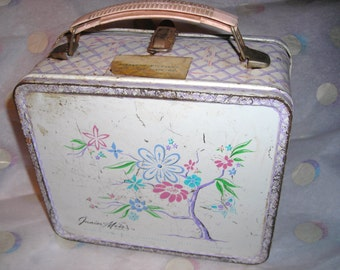 Vintage Metal Junior Miss Lunch Box 1963....Aladdin Industries...Sweet and Innocent  Miss Before Miley