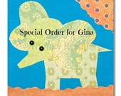 Special Order for Gina