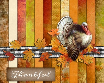 Thankful PAPER SET 1 - Digital Scrapbooking