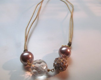 Chunky Bedazzled Beaded Necklace
