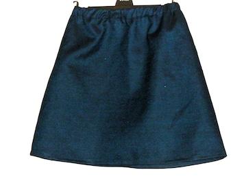 Shopping, Clothes,Denim Skirt - Elasticated Skirt - Mini Skirt - Navy Skirt - Skater Skirt - Size 12 - Size 10 - By Rebecca's Clothes