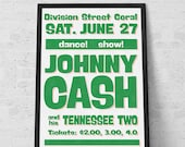 Poster Johnny Cash Concert Vintage - Large Poster -  typography - Paint Art Print Poster - Wall Decor - Wall Hanging