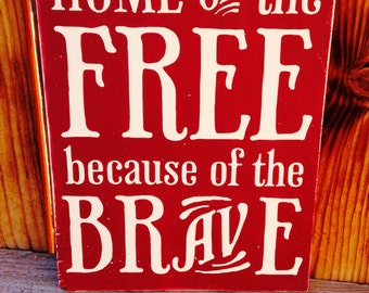 12x18 Home of the Free
