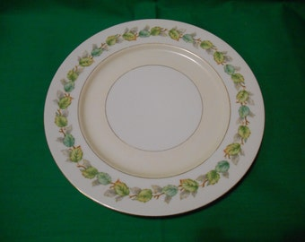 "One (1), Occupied Japan, 10 1/8"" Porcelain, Dinner Plate, from Fuji China, in the Garland Pattern."