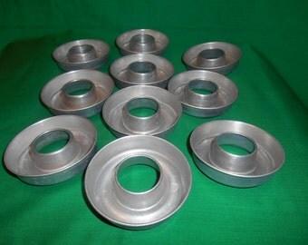 Ten (10), Aluminum Baking / Cooking Molds.