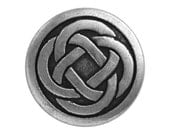 12 Celtic Knot 7/8 inch ( 23 mm ) Metal Buttons Antique Silver Color