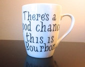 There's a chance this is Bourbon, Crate&Barrel Mug