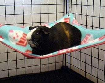 Fleece Hammock corner or square for guinea pig ferret rat small animal cavy sugar glider custom