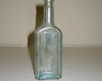 Vintage Chas H Fletcher Castoria Aqua Apothocary Bottle circa 1920's