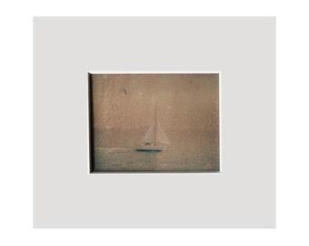 Original 'Misty Morning Sail' Phototransfer Art