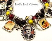 Edgar Allan Poe Books Charm Bracelet Jewelry, Poe Literary Charm Bracelet, Book Charm Bracelet, Writers, Authors