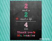 Teacher appreciation printable in pink