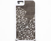 iPhone 5 Case. iPhone 5S Case. Silicone Lined Tough Case. Wood Geometric Lines. Phone Case. iPhone Case. Phone Cases.