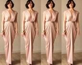 Set of 4 Bridesmaids Pink dresses , Pink blush , Bridesmaids dresses