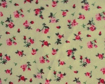Mini Floral Rose Pink 100% Cotton Flannel 45 Inch Fabric by the Yard, 1 Yard