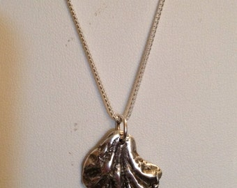 Kittens Paw Fine Silver Pendant Necklace