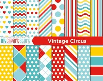 Digital Paper - Vintage Circus / Carnival - vector graphics, digital clip art, digital images, commercial use clipart