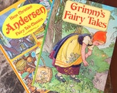 GRIMM's Fairy Tales and Hans Christian ANDERSEN Children's Book Set